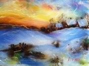 Продаю  Картины ручной работы,  изготовленные методом шерстяной акварел