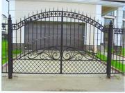 Двери,  ворота,  решётки,  калитки,  заборы.