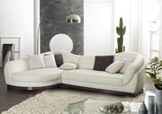 Петуния диван ,  угловой,   белая кожа