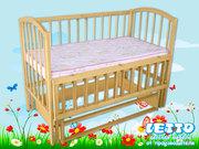 Кроватка детская LETTO «Малютка с маятником» с колесами