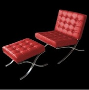 кресло и оттоманка,  цвет красный,  Барселона