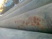 Трубы оцинкованные 152х3, 25. Длина 6 метров.