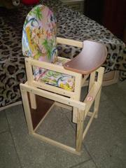 стул + стол для кормления. НОВОЕ