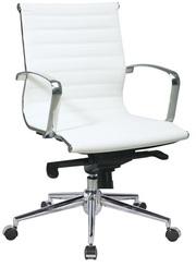 Кресло офисное Алабама,  средняя спинка,   белый цвет