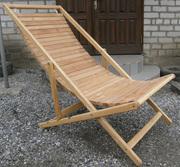 Шезлонг пляжный - деревянный