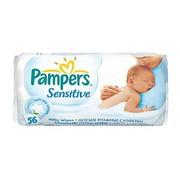Pampers sensitive влажные салфетки