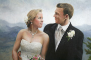 Портрет молодожен Свадебный подарок и на юбилей wedding portrait