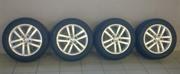 Продам диски VW оригинал Atlanta с летними шинами Dunlop 5*112 R16
