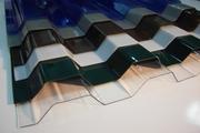 Волновой,  волнистый,  рифлёный поликарбонат -  прозрачный шифер Донецк