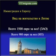 Виза в Европу на 365 дней,  вид на жительство в Литве,  бизнес в Европе