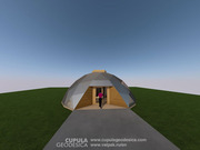 Невозгораемый Купольный Дом 120 м2 с электростанцией 5 кВт