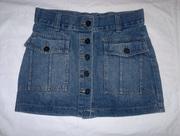 Юбка джинсовая с пуговицами,  р-р 42-44,  б/у