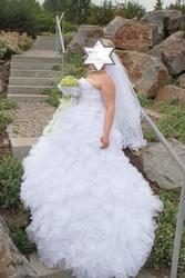 продам свадебное платье.одето 1 раз