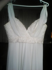 Продам шелковое свадебное платье