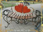 Кованые лавочки,  скамейки для сада,  кованые изделия от производителя под заказ,  фото,  цена.