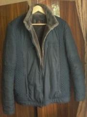 куртка мужская чёрная осенне зимняя рублями900