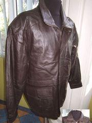 Большая утеплённая кожаная мужская куртка. Лот 276