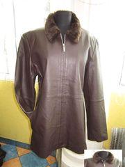 Классическая женская кожаная куртка Echtes Leder. Лот 282