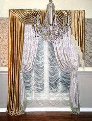 Дизайн и пошив штор,  жалюзи,  карнизы,  ролеты