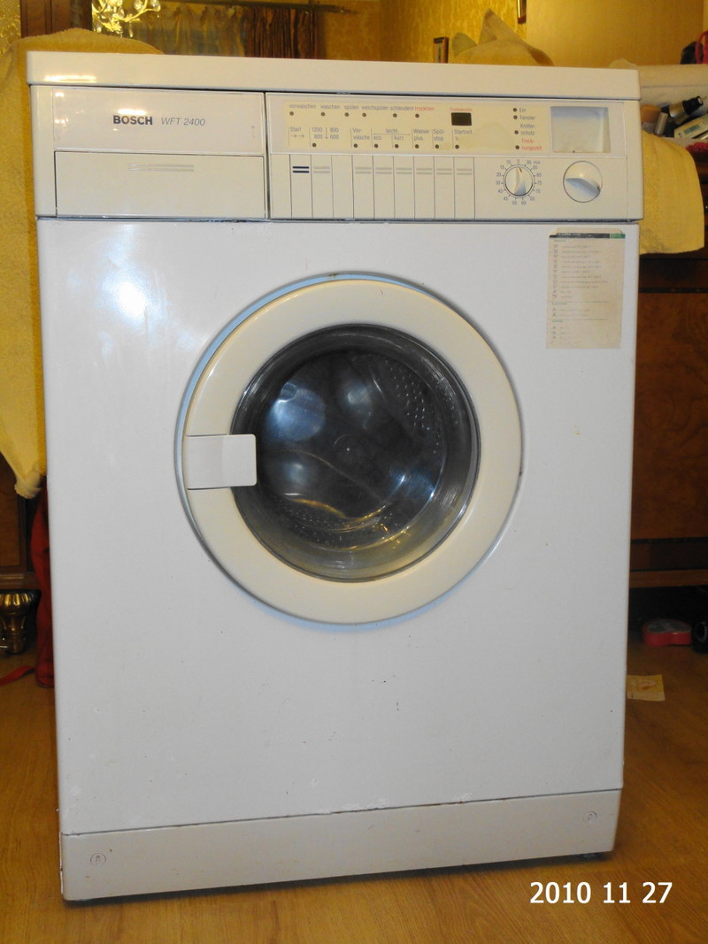 инструкцию стиральной машинки bosch wft 2400